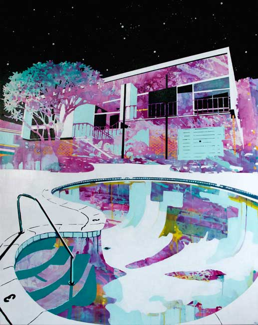 Vacant home, empty pool by Paul Davies