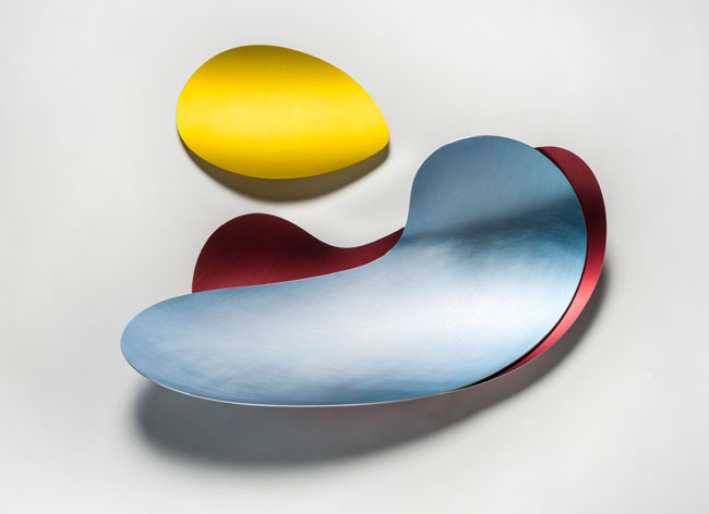 Salver (red, blue, yellow) by Marie Hagerty