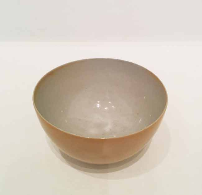 Unglazed rocky bowl (Shigaraki, Japan) by Gwyn Hanssen Pigott at Olsen Gallery