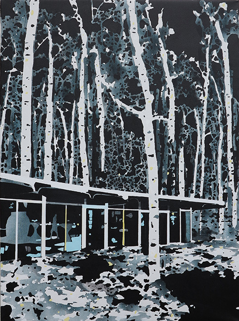 House, Forest, Black by Paul Davies