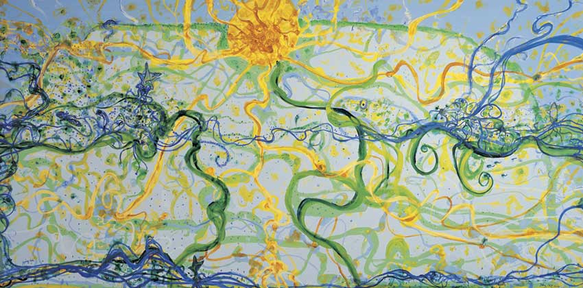 Giraffes Approaching by John Olsen at Olsen Gallery