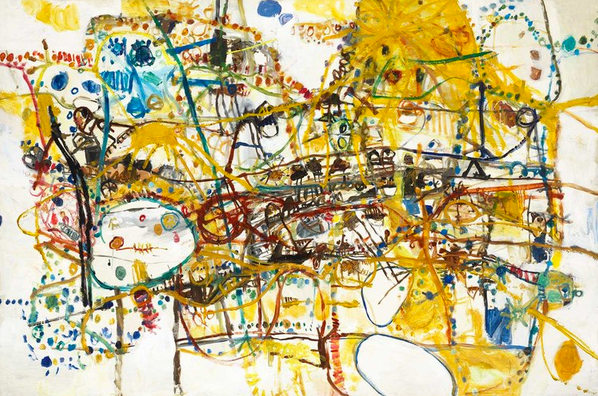 Frog Swimming by John Olsen at Olsen Gallery